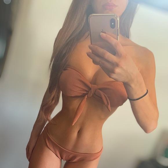 vix | the label Other - Light Orange Bandeau Bikini